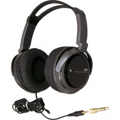 Casti JVC HA-RX300 negre, Casti On Ear, Cu fir, Mufa 3, 5mm