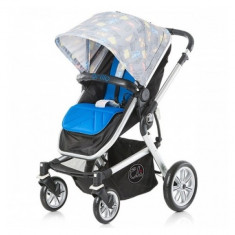 Carucior multifunctional Brillo London blue Chipolino - Carucior copii 2 in 1