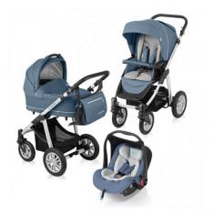 Carucior 3 in 1 Lupo Comfort Steal Baby Design - Carucior copii 3 in 1 Baby Design, Verde