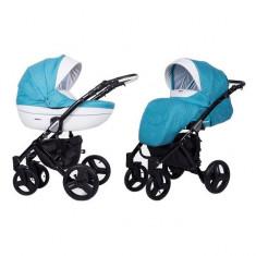 Carucior 3 in 1 Mila Black Blue Sky Kunert - Carucior copii 3 in 1