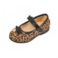 Pantofi cu imprimeu animal 22 Melania - Pantofi copii Melania, Maro