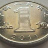 Moneda 1 Yi Jiao - CHINA, anul 2011 (a.unc) *cod 1675