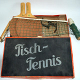 Joc vechi set ping pong , tenis de masa/ palete + fileu Germania  interbelica