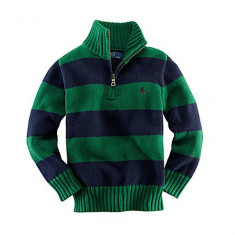 Pulover cu fermoar 2 ani Ralph Lauren, Verde