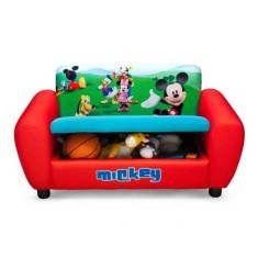 Canapea si cutie depozitare jucarii Disney Mickey Mouse Delta Children
