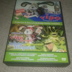 Vipo descopera lumea si Vipo si prietenii pe insula timpului Colectie 9 DVD-uri - Film animatie Altele, Romana