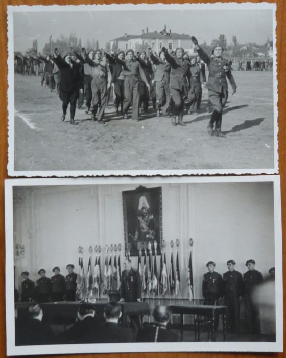26 foto originale militare , legionare , Chisinau , Tighina , Basarabia , 1936 foto mare