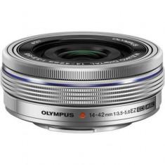 Olympus M.ZUIKO Digital ED 14‑42mm 3.5‑5.6 EZ pancake argintiu - Obiectiv DSLR