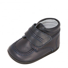 Ghetute bleumarin din piele 18 (10.5 cm) Leon Shoes - Ghete copii