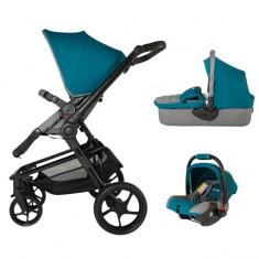 Carucior 3 in 1 Girasole Albastru Coccolle - Carucior copii 3 in 1
