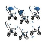 Tricicleta 6 in 1 cu scaun rotativ Swift Kinderkraft Blue KinderKraft