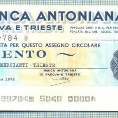 A2194 ASIGNAT BILET BANCA ANTONIANA DI PADOVA - 100 LIRE-starea cese vede - Cambie si Cec