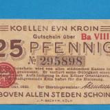 Germania 25 pfennig 1920 - bancnota europa