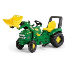 Tractor cu Pedale copii 046638 Verde Rolly Toys - Vehicul