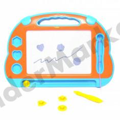 Tablita magnetica pentru desen cu creion, trei stampile si stergere rapida - Jocuri arta si creatie, Unisex