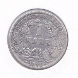 Moneda Germania ( Imperiu ) 1 Marca 1876C - KM#7 VF+ ( argint 0,900 ), Europa