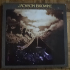 JACKSON BROWNE running on empty album disc vinyl lp 1977 germany muzica rock pop, VINIL