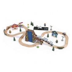 Trenulet din lemn Euro Express cu set de accesorii Kidkraft KidKraft, Plastic