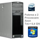 Calculator Workstation HP XW6200 Dual 2x Xeon 3, 4 Ghz 2x HDD - Sisteme desktop fara monitor HP, Intel Xeon, Peste 3000 Mhz, 2 GB, 100-199 GB, Fara sistem operare