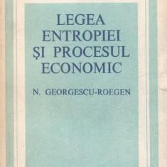 N. Gerogescu-Roegen - Legea entropiei si procesul economic - 712289 - Carte Management