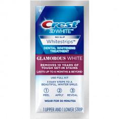 Albirea Dintilor cu Crest Whitestrips LUXE Glamorous White - 1 PLIC (2 benzi)