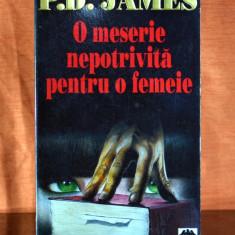 Carte - O meserie nepotrivita pentru o femeie - P.D. James (Ed. RAO 1995) #370 - Roman