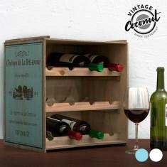 Suport din Lemn pentru Sticle Vintage Château de la Brissonne - Agenda scolara
