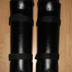 Set/pereche protectii antivandal genunchi tibie glezna - airsoft sau firme paza - Echipament Airsoft
