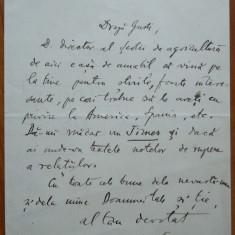 Scrisoare istorica a lui Vasile Parvan adresata lui Dimitrie Gusti, 1917 - Autograf