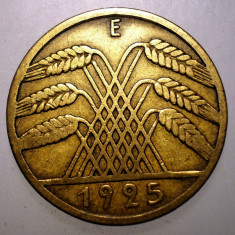 7.975 GERMANIA WEIMAR 10 REICHSPFENNIG 1925 E, Europa, Bronz-Aluminiu