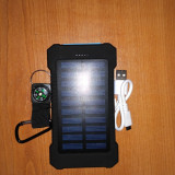 Baterie Externa/ Powerbank Solar 20000Mah-Albastru/Samsung/Android/HTC