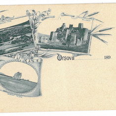 1366 - Litho, ORSOVA - old postcard - unused - Carte Postala Oltenia pana la 1904, Necirculata, Printata