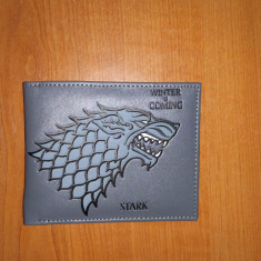 Portofel -Stark Wolf/Game of Thrones/Urzeala Tronurilor - Unisex/Lup - Portofel Barbati