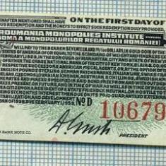A2268 GOLD BOND CASSA AUTONOMA A MONOPOLURILOR REGATULUI ROMANIEI -17, 50 $ - Cambie si Cec