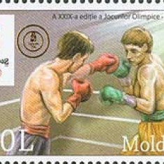 MOLDOVA 2008, Sport - J.O. Beijing, supratipar, serie neuzată, MNH, Nestampilat
