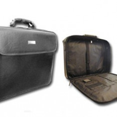 Geanta din piele pentru laptop 14inch - Geanta laptop, Piele sintetica, Negru