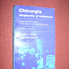 CHIRURGIE DIAGNOSTIC SI TRATAMENT - DAVID C DUNN, NIGEL RAWLINSON - Carte Chirurgie