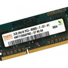 Memorii Laptop SODIMM 2GB DDR3 PC3-8500S/10600S 1066/1333Mhz - Memorie RAM laptop Hynix, 1066 mhz