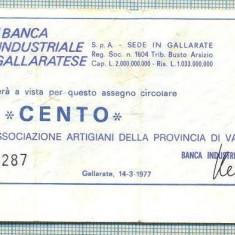 A2249 ASIGNAT BILET BANCA BIG -ITALIA- 100 LIRE-starea cese vede - Cambie si Cec