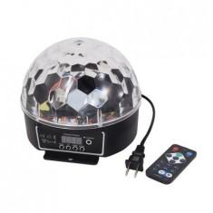 Cumpara ieftin SUPER LUMINA DISCO LED ,DISCO GLOBE  BALL,GLOB ROTATIV CU LED SMD  SENZATIONALE.