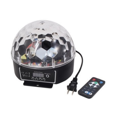 SUPER LUMINA DISCO LED ,DISCO GLOBE  BALL,GLOB ROTATIV CU LED SMD  SENZATIONALE. foto