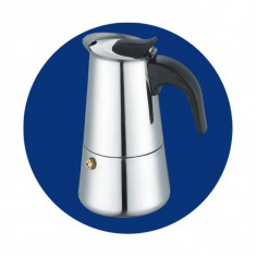 Espressor din inox pentru aragaz Bohmann BH-9504 - Espressor Manual