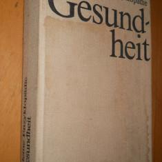 GESUNDHEIT - KLEINE ENZYKLOPADIE - CARTE IN LIMBA GERMANA - Carte in germana