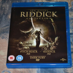 Film - The Riddick Collection [3 Filme - 2 Discuri Blu-Ray + 1 Disc DVD], Import - Film SF universal pictures, Engleza