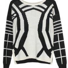 Pulover gros tricotat toamna-iarna Vero Moda - Pulover dama Vero Moda, Marime: M, Culoare: Din imagine, Acril