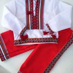 COSTUM NATIONAL popular de la 1 la 7 ani ie+pantaloni produs in Romania COPII - Costum populare, Marime: Marime universala, Culoare: Alb