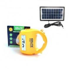 Kit incarcare solara cu lanterna, radio, MP3, card reader GDLITE7655B