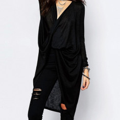 Cardigan negru asimetric Noisy May