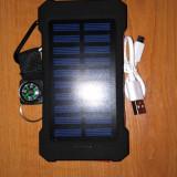 Baterie Externa/ Powerbank Solar 20000Mah-Rosu/Samsung/Android/HTC
