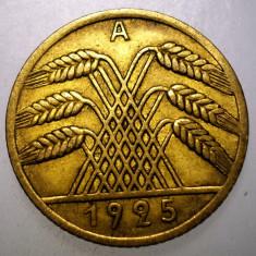 7.976 GERMANIA WEIMAR 10 REICHSPFENNIG 1925 A, Europa, Bronz-Aluminiu